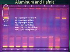 aluminum and hafnia