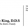 Dana King DDS business card