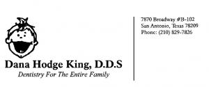 Dana King DDS business card